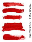 red abstract hand painted... | Shutterstock . vector #115912936