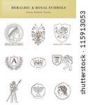 heraldic and royal symbols.... | Shutterstock .eps vector #115913053