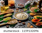 spices for cooking with kitchen ... | Shutterstock . vector #1159132096