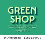 vector modern  logo green shop... | Shutterstock .eps vector #1159134973