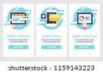mobile shopping  video app ... | Shutterstock .eps vector #1159143223