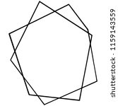 vector geometric form. isolated ...   Shutterstock .eps vector #1159143559