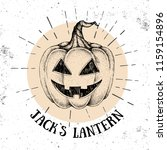 halloween hand drawn pumpkin... | Shutterstock .eps vector #1159154896