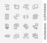 set of message vector line... | Shutterstock .eps vector #1159155643