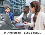 group of happy diverse male and ... | Shutterstock . vector #1159155820
