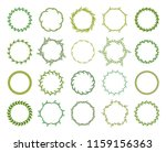 collection of different green...   Shutterstock .eps vector #1159156363