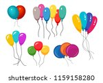 bunches of several colour... | Shutterstock .eps vector #1159158280
