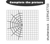 complete the picture  cobweb in ... | Shutterstock .eps vector #1159167733