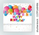 happy birthday greeting card... | Shutterstock .eps vector #1159168486