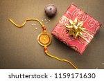 beautiful golden rakhi and a... | Shutterstock . vector #1159171630