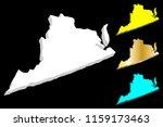 3d map of virginia  united... | Shutterstock .eps vector #1159173463