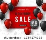 black friday sale banner. 3d... | Shutterstock .eps vector #1159174333
