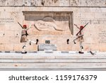 athens  greece   july 19  2018  ...   Shutterstock . vector #1159176379