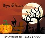 halloween card   vector | Shutterstock .eps vector #115917700