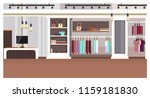 woman clothing store interior... | Shutterstock .eps vector #1159181830