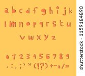 carved alphabet number and... | Shutterstock .eps vector #1159184890