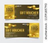 special gift voucher template... | Shutterstock .eps vector #1159185793