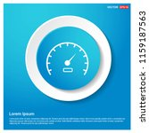 speedometer icon abstract blue... | Shutterstock .eps vector #1159187563