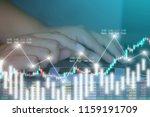 businessman on digital stock... | Shutterstock . vector #1159191709