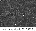objects of linear art piece of... | Shutterstock . vector #1159193323