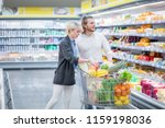 shopping time. positive man and ... | Shutterstock . vector #1159198036