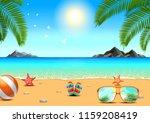 summer sea beach island leaf... | Shutterstock .eps vector #1159208419