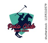 polo sport logo with text space ... | Shutterstock .eps vector #1159210579