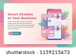 chatbot and future marketing... | Shutterstock .eps vector #1159215673