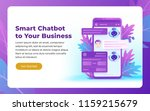 chatbot and future marketing... | Shutterstock .eps vector #1159215679