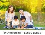 asian family enjoyed outdoor...   Shutterstock . vector #1159216813
