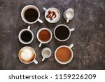 cups of fresh aromatic coffee...   Shutterstock . vector #1159226209