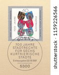 germany circa 1991 a stamp... | Shutterstock . vector #1159226566