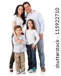 happy family smiling together   ... | Shutterstock . vector #115922710