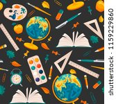seamless pattern with school... | Shutterstock .eps vector #1159229860