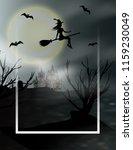 halloween vertical background... | Shutterstock .eps vector #1159230049