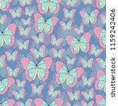 butterfly cartoon drawing... | Shutterstock .eps vector #1159242406