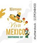 16th september viva mexico... | Shutterstock .eps vector #1159248433