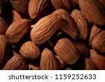 organic texture of almonds.... | Shutterstock . vector #1159252633