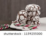 home baked peppermint and... | Shutterstock . vector #1159255300