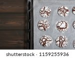 home baked peppermint and... | Shutterstock . vector #1159255936