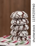 home baked peppermint and... | Shutterstock . vector #1159255960