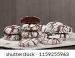 home baked peppermint and... | Shutterstock . vector #1159255963