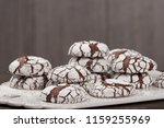 home baked peppermint and... | Shutterstock . vector #1159255969