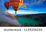 colorful hot air balloons... | Shutterstock . vector #1159256233