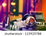 headphones and turntables | Shutterstock . vector #115925788