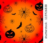 halloween pattern background... | Shutterstock .eps vector #115926838