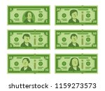cartoon banknote. dollar cash ... | Shutterstock .eps vector #1159273573