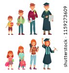 different ages students.... | Shutterstock .eps vector #1159273609