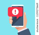 alert message mobile... | Shutterstock .eps vector #1159273669