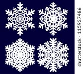 decorative abstract snowflake. | Shutterstock .eps vector #115927486